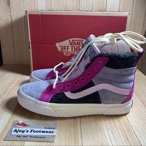 VANS SK8-HI 46 MTE DX Lilac Grey Suede Shoes Boots
